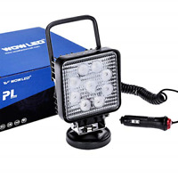 WOWLED 27W Portable LED Work Light Flood Lamp with Magnetic Base for Car, Truck,