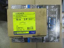 Square D EDB34070, 70 Amp 480 Volt 3 Pole Circuit Breaker- NEW