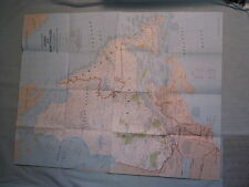 CLOSE-UP CANADA QUEBEC AND NEWFOUNDLAND MAP National Geographic May 1980 MINT