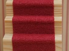 "Dolls House Miniature Self Adhesive Stair Carpet 19"" x 2"" 30 Various Colours"