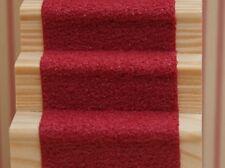 "Dolls House Miniature Self Adhesive Stair Carpet 19"" x 2"" 30 Various Colours"