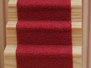 "Dolls House Miniature Self Adhesive Stair Carpet Runner 19"" x 2"" Flooring"