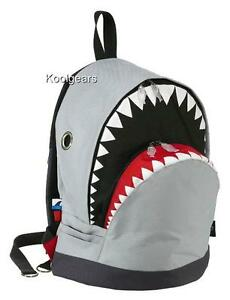 SHARK Backpack Large Jaws Great white kermit supreme GREY dolphin seal fish tank