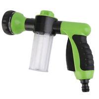 8 Function Spray Nozzle Gun Garden Hose Sprayer Water Pipe Fitting Green