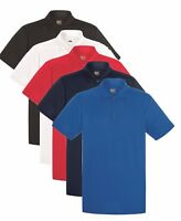 Hommes Uni Humidité Wicking Performance Respirant Athlétique SPORTS Polo