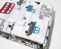 Pottery Barn Kids Things That Go Cars Vehicles Flannel Cotton Twin Sheet Set New