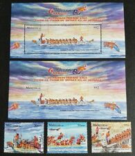 2008 Malaysia Sport Dragon Boat Racing Festivals 3v Stamps +2 MS (perf + imperf)