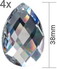"4x Kristall Glas Raute Pendel Prisma 38mm für Feng Shui ""Regenbogenkristalle"""