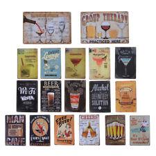 Cocktail Beer Metal Poster Wall Decor Tin Sign Wall Hanging Bar Cafe Home Decor&