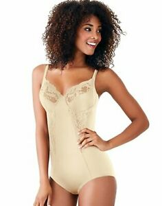 Maidenform Body Briefer All Around Lace Shape wear Firm Control Unlined Lingerie