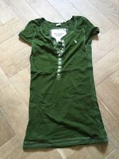 Abercrombie and Fitch piccoli WOMEN'S green top t shirt