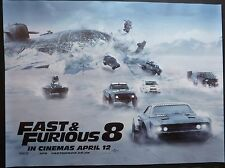 FAST & FURIOUS 8 THE FATE OF THE  2017 QUAD  POSTER VIN DIESEL JASON STATHAM