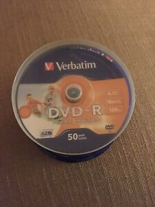 Pack of 50 DVD+R printable / recordable dvd discs
