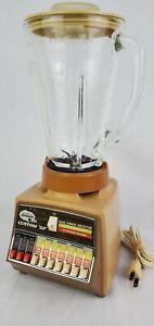 Vintage Sunbeam Vista Blender Harvest Gold Custom 20 Speed 777 5 Cup Glass CLEAN