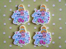 4 x Beautiful Princess Planar Flatback Resin, Embellishment, Crafts, Hair bow