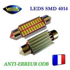 1 Ampoule navette C5W C10W 39 mm 20 leds 4014 SMD blanc xénon antierreur ODB 12V