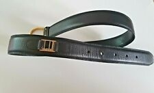 "DUNHILL MEN GENUINE LEATHER BLACK SLIM BELT 36"" Waist"