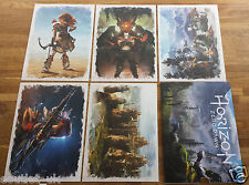 Horizon Zero Dawn Colour Art Promorional Cards Collection - New