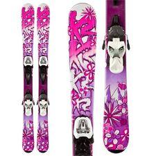 K2 Luv Bug Skis 88cm  + Marker Fastrak2 7.0 Bindings - Girl's Skis RRP £190