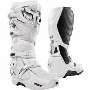 Fox Racing Instinct Boots - White/Silver, All Sizes