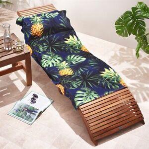 Avon Palm/Pineapple Print Cotton Towel with Pillow - Brand New - FREE P&P