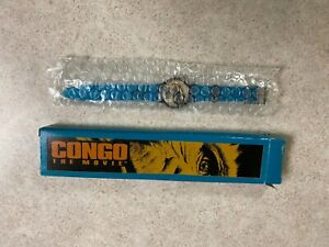 VINTAGE 1995 TEAL BOX POSTER IMAGE FROM CONGO the Movie Wrist WATCH New in Box