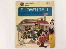Disney Bambi GE Show 'N Tell Picturesound Program 1969 Record WD-110