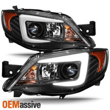 Fits [Halogen Type] 08-14 Subaru Impreza WRX LED Light Tube Projector Headlights