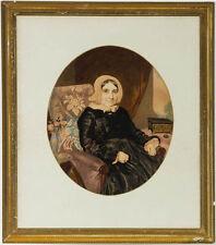1900-1949 Originale antike Aquarelle (bis 1945) aus Leinwand auf Porträt & Person