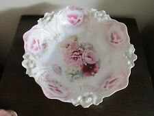 R S Prussia Germany Handpainted Porcelain Deep Bowl Red Pink Poppies Flowers