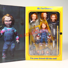 "NECA Chucky Good Guy Doll Child's Play Ultimate 4"" Action Figure 1:12 Scale NIB"