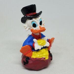Vintage DuckTales Scrooge McDuck PVC Figure Disney 1986 Cake Topper Money Bag