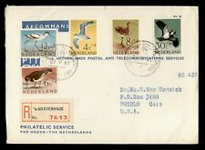 DR WHO SEMIPOSTALS 1961 NETHERLANDS GRAVENHAGE REGISTERED AIRMAIL TO USA C242634