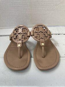 Tory Burch Miller Leather  Flip Flop Sandals Size 7M Makeup
