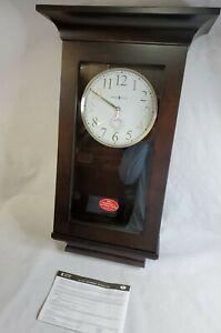 Howard Miller Gerrit Wall Clock 625-379 Brown Quartz Kieninger Dual Chime Maria