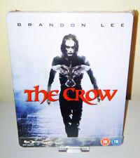 NEW THE CROW 1994 BRANDON LEE BLU-RAY STEELBOOK ZAVVI UK EXCLUSIVE EDITION RARE!