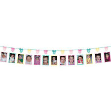 MINNIE MOUSE Fun to Be One PHOTO HOLDER GARLAND ~ 1st Birthday Party Supplies