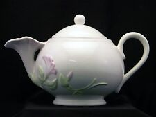 1980's Teleflora Pink Morning Glory Tea Pot with Lid