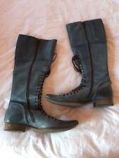 Noa Noa Blue Victorian Style Boots 37. 38