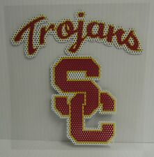 6-Inch USC Trojans Logo Perforated Vinyl Window Graphic