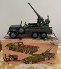 France Jouets No. M22 Dodge 6x6 Anti-Aircraft Gun Near-Mint in Original Box!