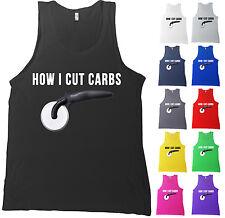 How I Cut Carbs Bella + Canvas Tank Top Pizza Cutter Funny Shirt - MANY COLORS
