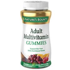 Nature's Bounty adult multivitamin gummy orange cherry and grape flavored 75 ct