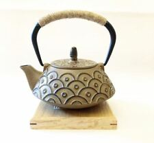 Brand New Japanese Cast Iron Kettle Tetsubin Teapot Yellow+Stainless Strainer