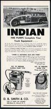 1957 Indian fire pump Deepwater New Jersey fire engine truck photo print ad