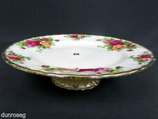 "1 OLD COUNTRY ROSES 18cm 7"" CAKE STAND / LOW COMPORT, ENGLAND, ROYAL ALBERT"