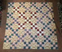 Antique Irish Chain American Quilt The Best Handstitched Cotton Fabrics