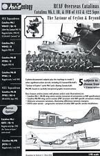 Aviaeology Decals 1/48 PBY CATALINA Canadian Overseas Catalinas at Ceylon