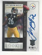 Le' Veon Bell 2013 Contenders Playoff Ticket Auto RC KC Chiefs #221 NM-MT