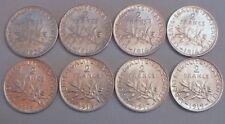 8 monnaies 2 Francs argent 1902 à 1919